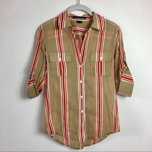 Theory flannel top size P
